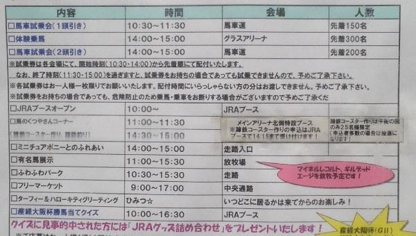 馬事公苑 桜祭りスケジュール表