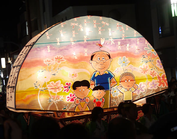 桜新町 ねぶた祭り サザエさんの山車2
