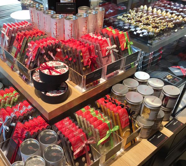 マヨルカのチョコレート売り場