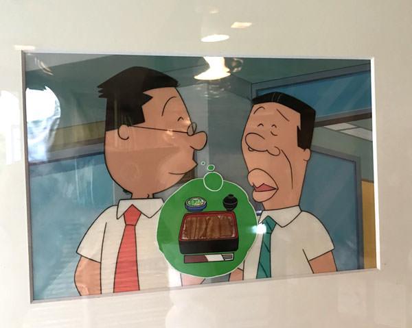 マスオさんがウナギを食べたがっているセル画